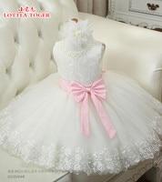 100 Real Photos White Lace Flower Girl Dresses For Weddings 2016 Summer Kids Prom Dresses Ball
