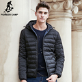 Pioneer Camp winter light thin down coat men brand clothing 90% white duck down jacket male fashion casual hoodie parkas 677170