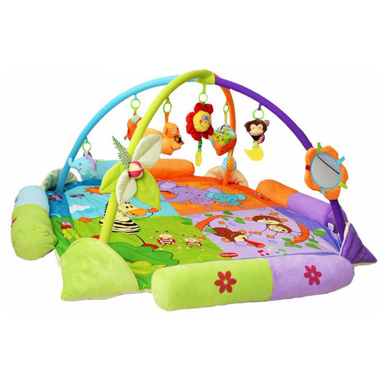 130Cm Baby Game Activity Mats Gym Play Cushion Educational Fitness Rug Twin Colorful Lovely Toys TL0013 baby toy play mats twist and fold activity gym play gym play mats colorful gymini playmat with 5 toys zl848