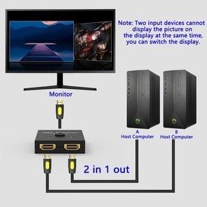 Image 3 - Hdmi 스위처 2 포트 양방향 1x2/2x1 hdmi 4 k 스위처 출력 어댑터 분배기 hd 4 k tv for ps3/ps4 tv box hdmi 분배기