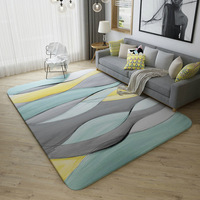 Northern Europe Geometric Concise Abstract Arts Printed Carpet For Living Room Large Rugs Children Play Games Bedroom Mat