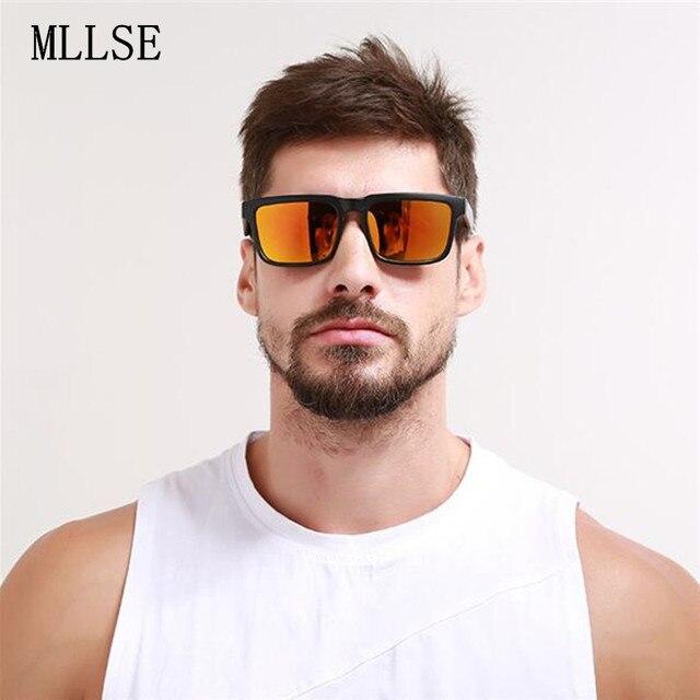 b3536d48e964e KEN BLOCK Sunglasses Men s Brand Designer Women Sun glasses Reflective  Coating Square Spied For Men Rectangle Eyewear Oculos