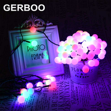 GERBOO Garland Solar Light Outdoor  Garden Decoration Light RGB 4PCS/LOT