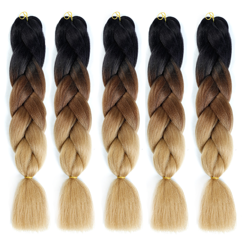 Synthetic Hair Extensions Ombre Kanekalon Braiding Hair One Piece