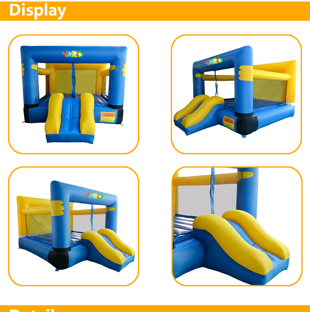 HTB1zICqSpXXXXcLaFXXq6xXFXXX2 - YARD Residential Inflatable Bouncer Bouncy House for Kids with Air Blower