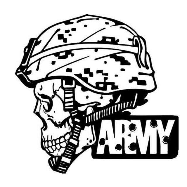 14cm13 7cm Creative Personality Skull Army Car Styling Fashion
