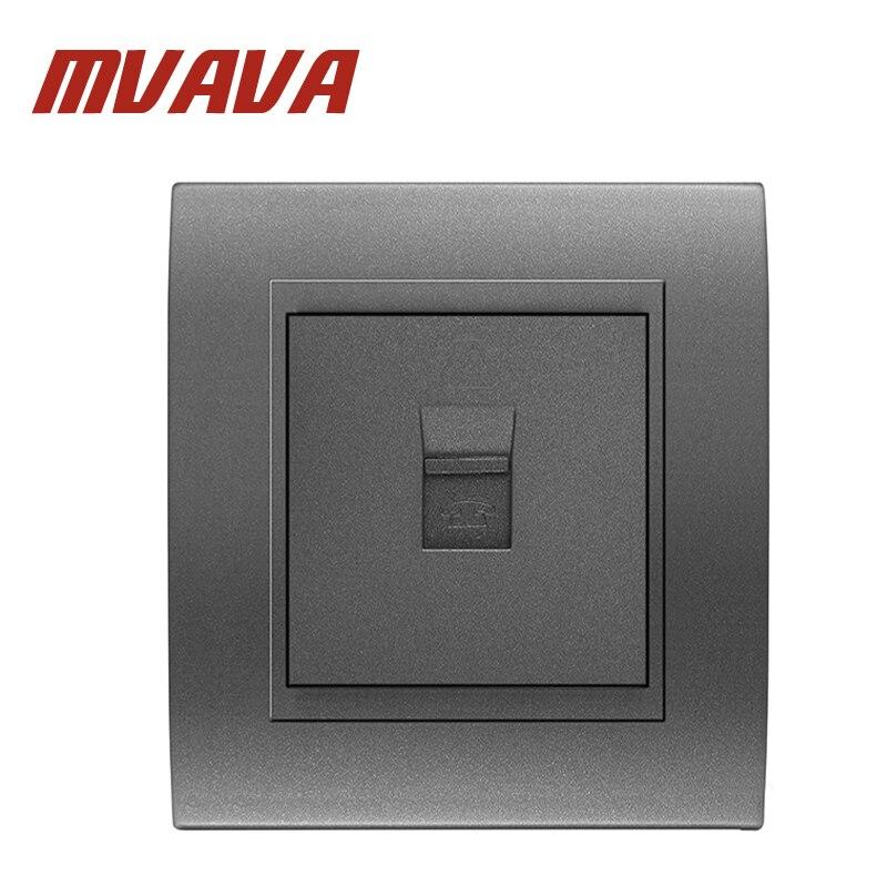 купить MVAVA Free Shipping Telephone Wall Socket Luxury Decorative PC Panel Single Port RJ11 TEL Wall Outlet Tel Wall Socket по цене 290.39 рублей
