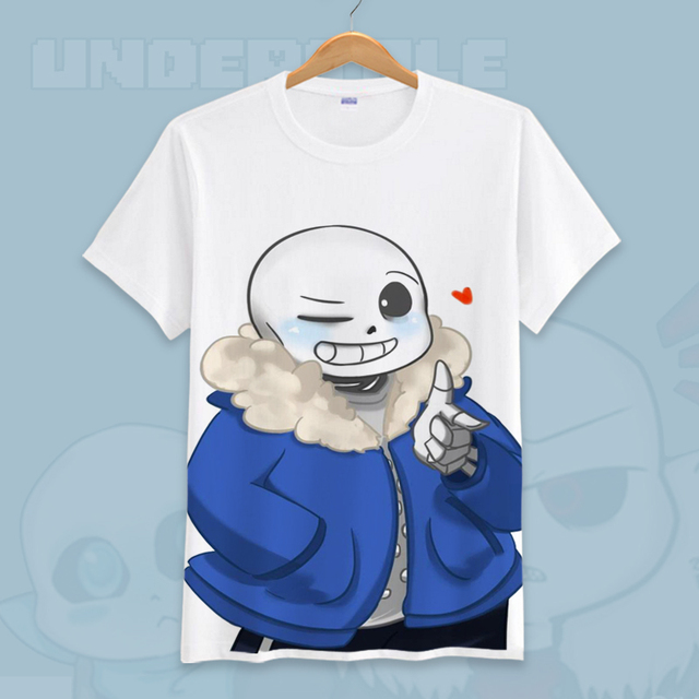 918f1aa7d US $16.99 |Game Undertale T Shirt Skull Brother Sans & Papyrus Printed T  shirts T Shirt Short Sleeve Tees O Neck Men Women Summer Cosplay-in  T-Shirts ...