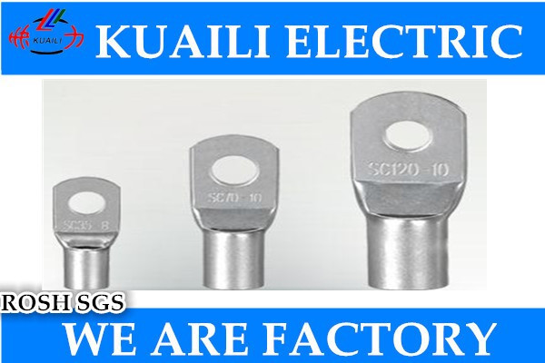 10 PCS Copper Cable Lug Wiring Terminal Connectors Connecting Tinned Lug SC120 car connector 5 2 circular annular lug ground lug 100 to loop wiring lug cold copper tips