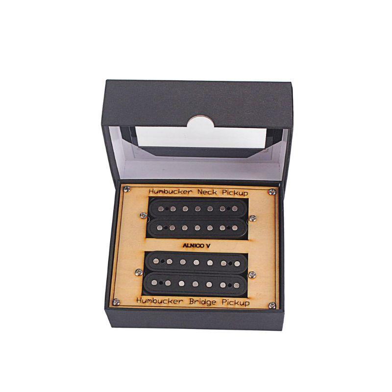 7 strings fiber alnico V neck and Bridge Guitar Pickup Humbucker Pickup high output invader humbucker ceramic magnet electric guitar bridge pickup hj5