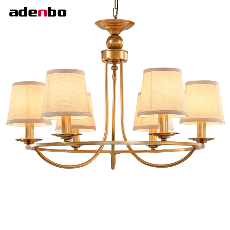 led chandelier gold vintage wrought iron chandeliers lighting fixtures led hanging lights with fabric shade for - Wrought Iron Chandelier