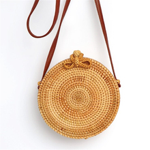 2019 New arrival rattan women bag travel literary beach female shoulder