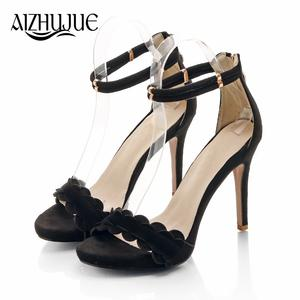 e1cb7e7926e AIZHUJUE sandals thin high heels open toe party shoes woman
