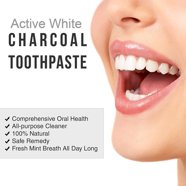 Hot Sale 100% Natural High Quality Tooth Paste 50g  Bamboo Charcoal Black Toothpaste Teeth Whitening Cleaning Hygiene Oral Care Health & Beauty
