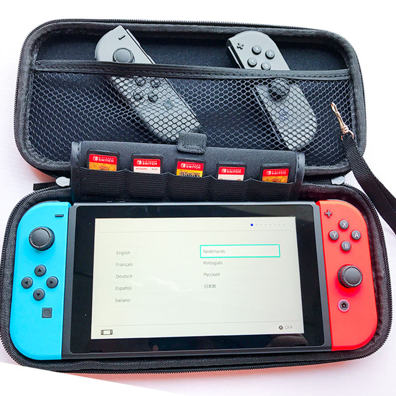 Genuine EVA Hard for Nintend Switch Protective Bag 4 colors 30cmx15cmx3cm Protective Carrying Case Bag For Nintend Switch