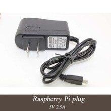 5 pcs Mais Nova Marca de Alta Qualidade AC100-240V Para DC 5 V 2.5A Micro USB NOS Ligue Adaptador de Carregador Cabo de Alimentação para Raspberry Pi