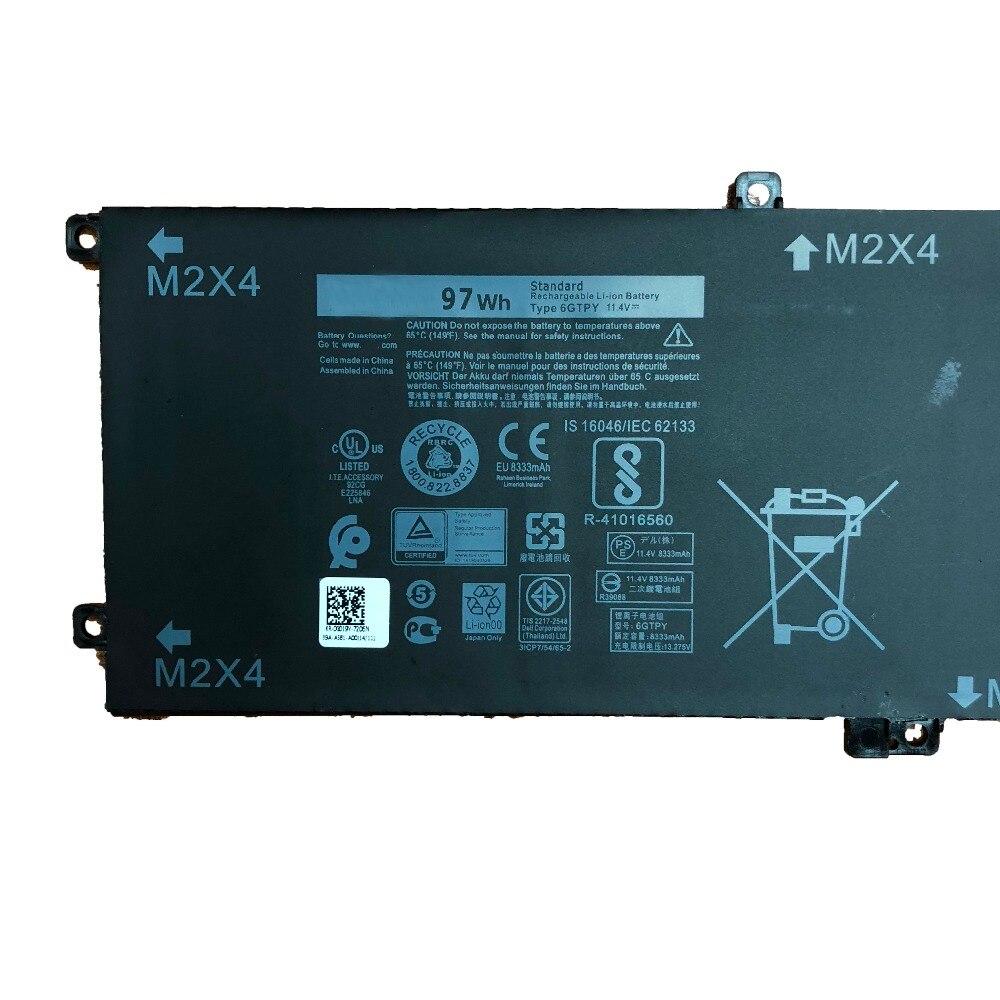 11,1 V 97wh 6 GTPY nuevo Original 5XJ28 batería del ordenador portátil para Dell precisión 5510 XPS 15 de 9550, 9560, 9570 6 GTPY 5XJ28 - 3
