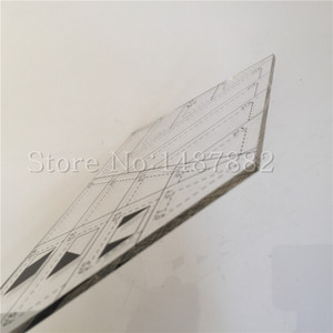 Image 5 - 2 Pcs DIY Patchwork Herrscher Kombination Erweiterte Acryl Patchwork Lineal Dicke 3mm Unterstützung Große Aufträge Schneider Lineal Stoff