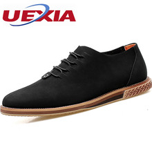 New Arrival Pointed toe Suede Chelsea Leather Shoes Men Zapatos Breathable Casual Flats Oxford Rubber Shoes Zapatillas Hombre