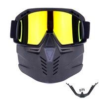 Motosiklet Bisiklet Kask Maskesi Gözlük Çıkarılabilir Gözlük Su Geçirmez HD Anti UV Gözlük Off Road Moto Motokros Maskesi Gözlük|Bisiklet Gözlükleri|Spor ve Eğlence -