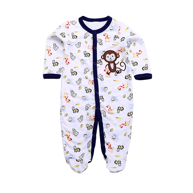 100% Cotton Newborn Baby Girls Boys Similar  Rompers Baby Romper Body Suit Cartoon Long Sleeve Clothes roupas de bebe