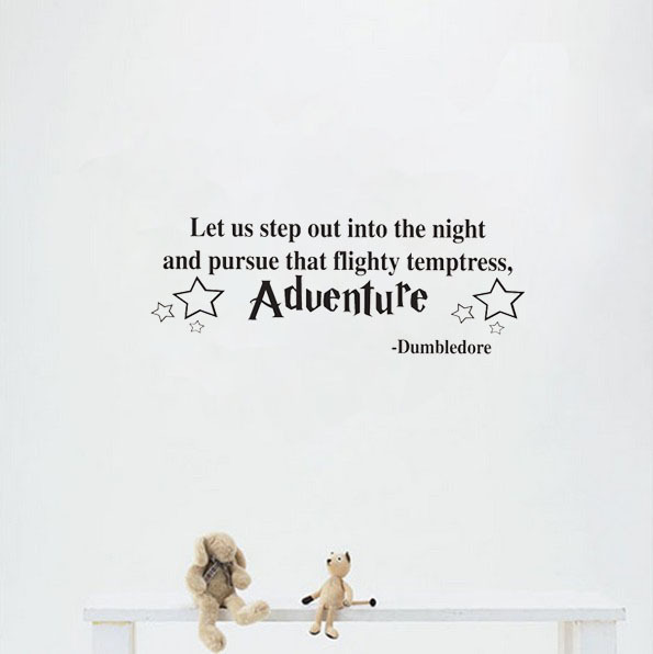 adventure dumbledore harry potter say quote word lettering art