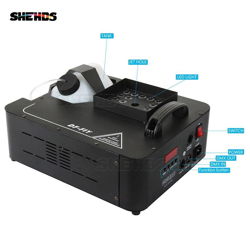 1500W LED Machine à brouillard 24x9W RGB LED de couleur Machine à fumée brumisateur équipement pour DJ KTV SHEHDS éclairage de scène