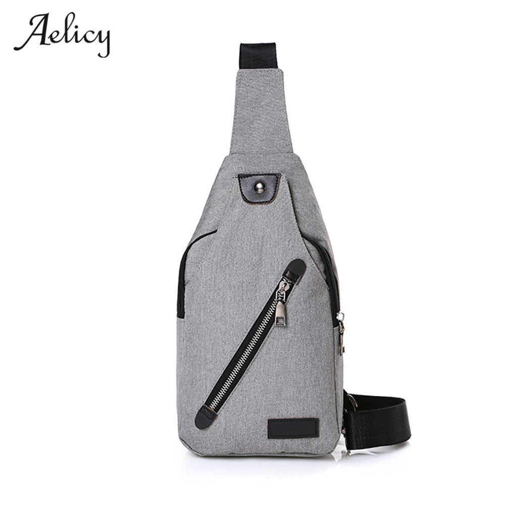 Aelicy Luxury 3 Colors New Canvas Chest Bag Fashion Designer Men's Polyester Sling Bags Chest Pack Crossbody Men Boston Bag