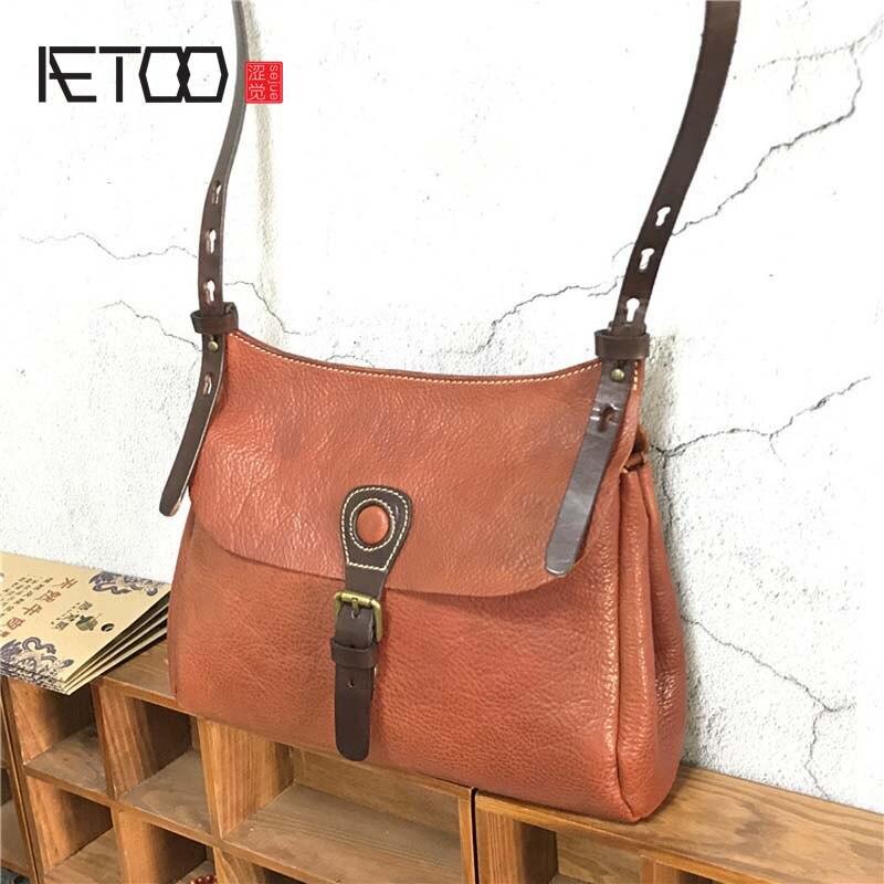 AETOO Новый Овощной эвкалипта вставить Ретро сумка ручной работы из кожи мужская портативный портфель сумка для ноутбука