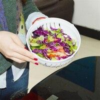 Vente chaude Coupe de Salade Bol de Fruits Légumes Cutter Bol Faire votre Salade dans 60 Deuxième Coupe de Salade Bols Grande Salade outils