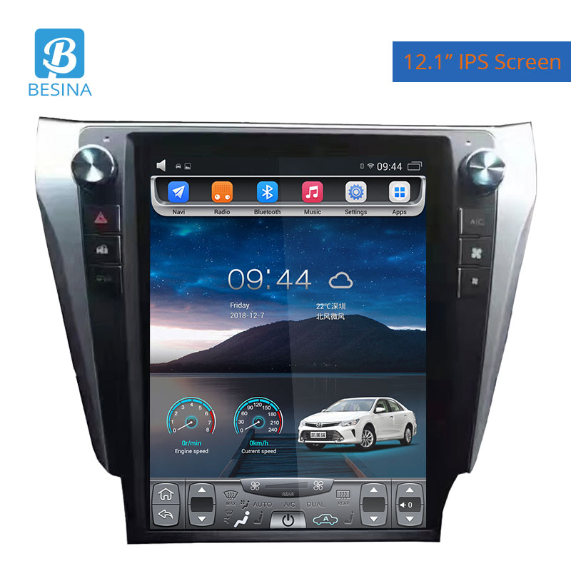 Besina 12.1 polegada Android 6.0 Rádio Do Carro Para Toyota Camry 2012 HIFI Multimedia Player GPS Navigation 2G + 32G Auto de Áudio Estéreo