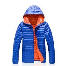 4 colors 7 sizes Men Winter Warm Outdoor Puffer Lightweight Duck Down Jacket Windbreaker Camping Parka Ultra-light hiking Coat