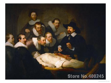The Anatomy Lesson Of Dr Nicolaes Tulp Rembrandt Van Rijn Painting