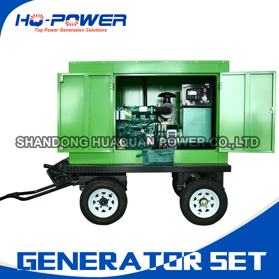 hot sale top quality trailer type 40kw diesel generator