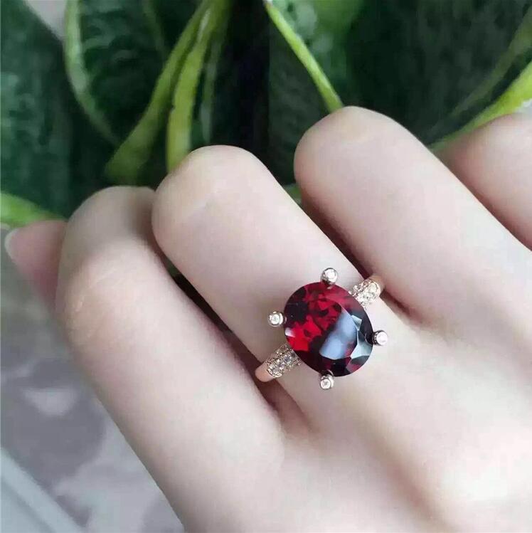 Garnet ring Free shipping Natural and real garnet ring 925 sterling silver 6*8mm gem Fine jewelryGarnet ring Free shipping Natural and real garnet ring 925 sterling silver 6*8mm gem Fine jewelry