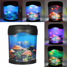 LED Light Jellyfish Tank Sea World Swimming Mood Lamp Night Light Aquarium Nightlight Festival Home Decor Light