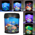 Luz LED Jellyfish Tank Mundo Del Mar Natación Mood Night Lamp Light Festival Nightlight Decoración Del Acuario Luz