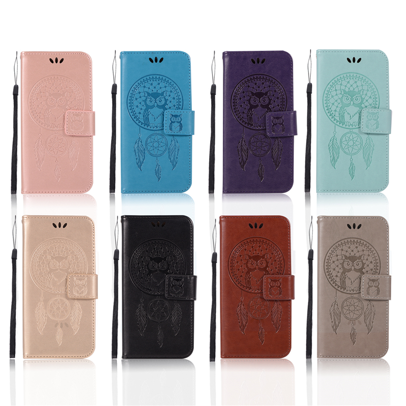 Embossed Wallet Case For Samsung J5 PU leather Owl Flip Cover Case For Samsung Galaxy J5 2015 J500 Case Phone
