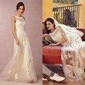 Elegant Lace Beach Wedding Dress 2017 Cheap Vestido De Noiva Summer Tulle Floor Length Bridal Dresses Backless Bride Gown