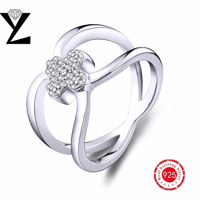 AAA CZ Diamond Engagement Wedding Rings Genuine 925 Sterling Silver Jewelry Rings White Gold Plated Rings for Women Bridal Ring