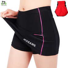 WOSAWE cycling shorts ladies MTB Silicone Pad Bike Short Bicycle ciclismo Breathable Downhill Shorts with Skirt