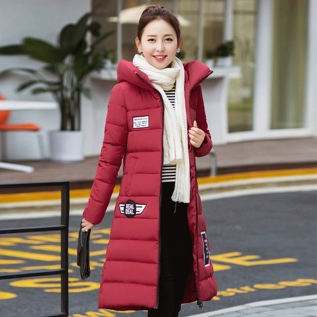 Clearance coat Girls long paragraph Slim Down padded winter jacket ...