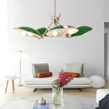 Đặc biệt Xanh/Tím LED Pandant Đèn Phòng Ngủ Hanglamp Tiệm Mặt Dây Chuyền Đèn 110-220 V thiết kế Nghệ Thuật Nhà Deco bắc Âu Hiện Đại Đèn
