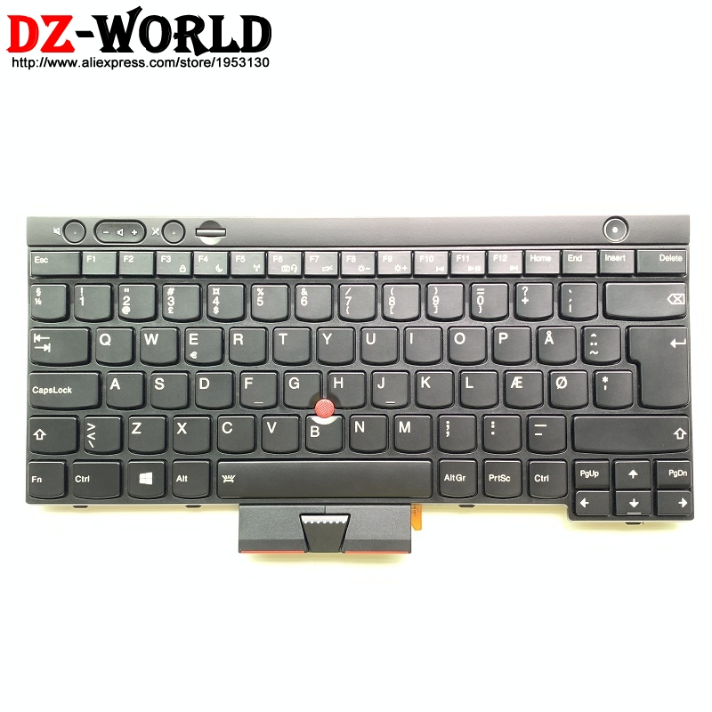 DEN DK Danish Backlit Keyboard For Thinkpad T430 T430i T430S T530 T530i W530 X230 X230i X230 Tablet Backlight Teclado 04Y0537