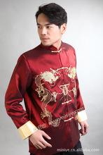 Chinese Tradtional Costume Mens  Silk Satin Jacket Coat Size M - 3XL