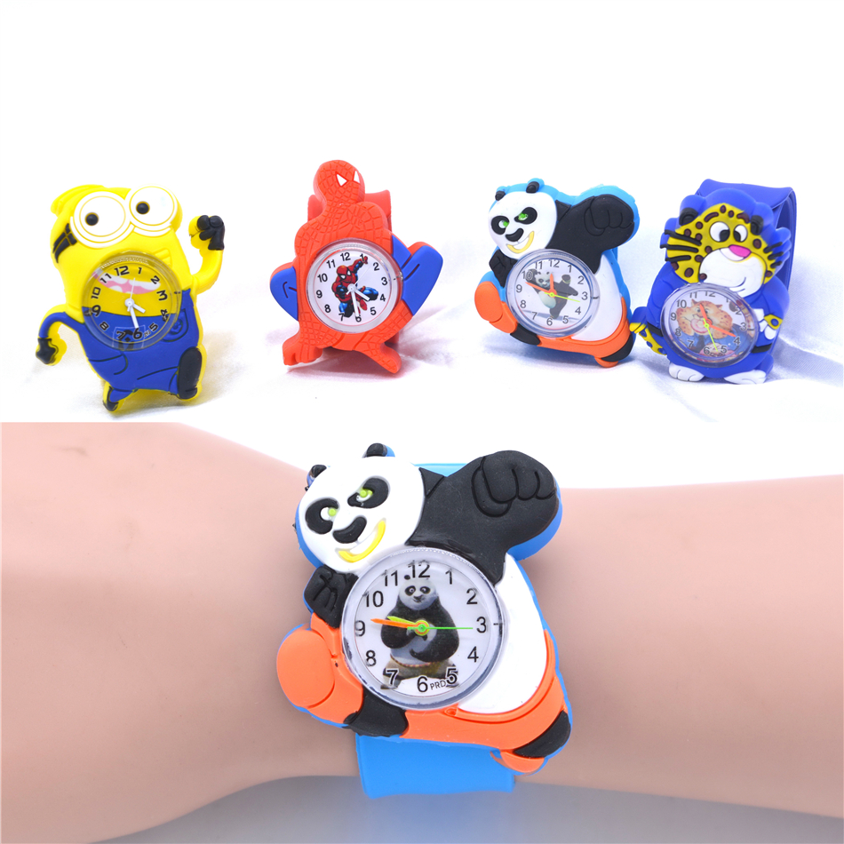 Cute Children's Watch Panda Animal Watches Kids Slap Wristwatch Hot Sale Child Clock Montre