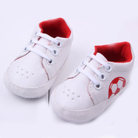 2016 Football Print Baby Boys Shoes Soft Sole Baby Girls First Walkers Soccer Pattern Infant Shoes
