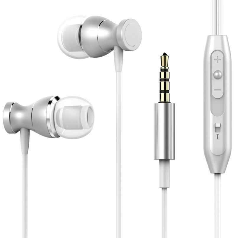 Магнитный гарнитура ясности стерео звук металла наушники ушной HC023 с микрофоном для iPhone Xiaomi Samsung Huawei телефон MP3