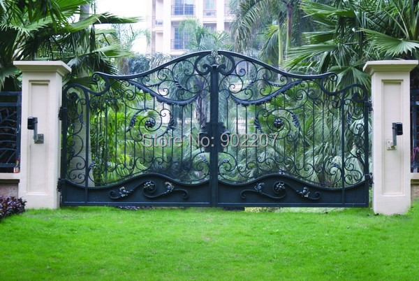 Steel Security Gate  Iron Gate Patio And Garden  Pre Made Wrought Iron Gates