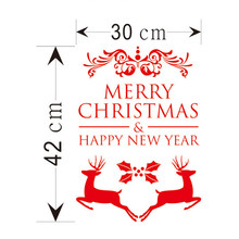 30*42cm Merry Christmas Tree window sticker xmas christmas decoration happy new year gift deacals Window Home Office Sticker De